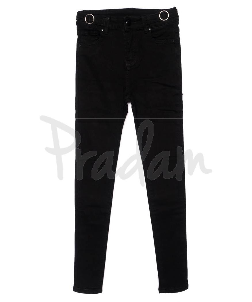 3457 New jeans американка черная осенняя стрейчевая (25-30, 6 ед.)