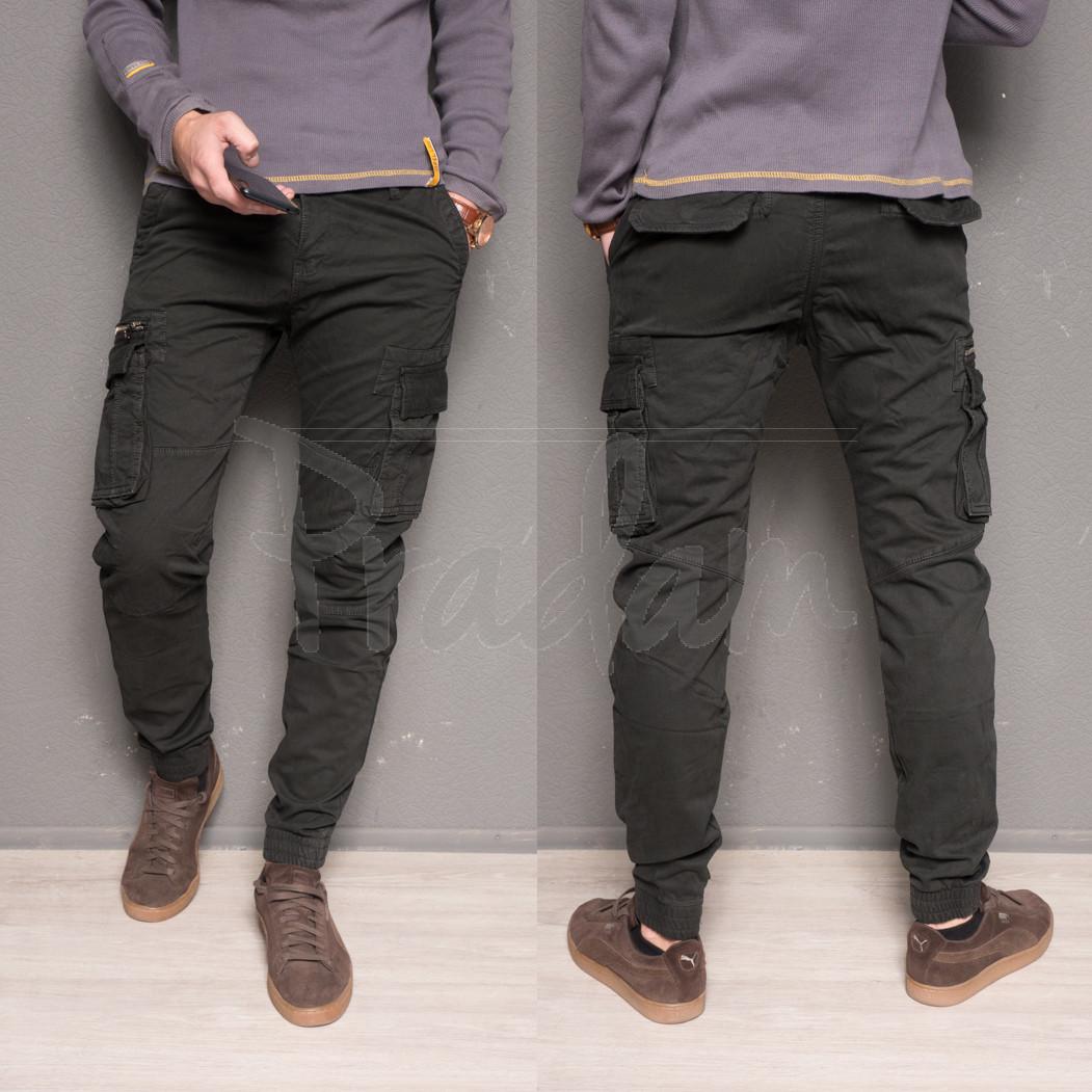 1868-grey Forex брюки мужские молодежные карго на флисе зимние стрейч-котон (28-40, 10 ед.)
