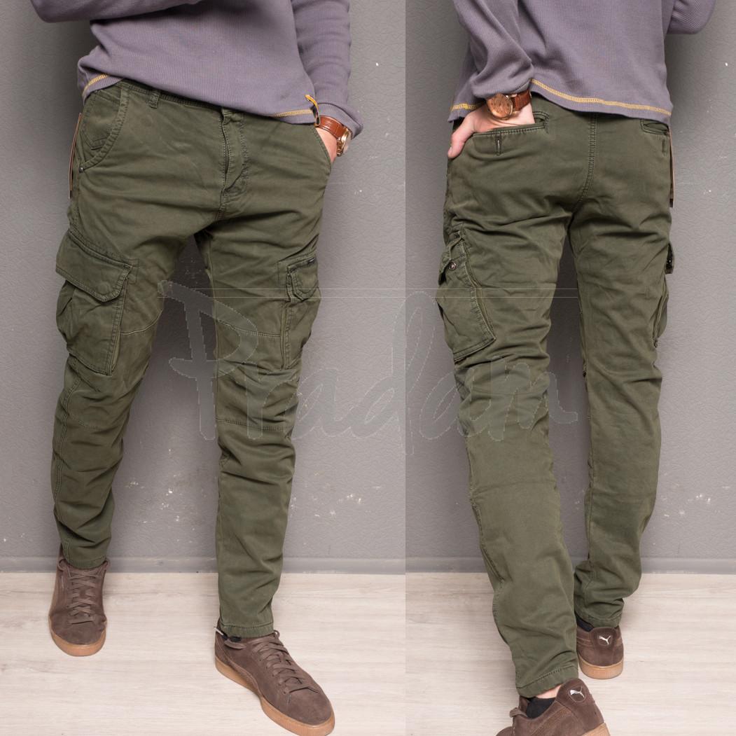 1869-army green Forex брюки мужские молодежные карго на флисе зимние стрейч-котон (28-40, 10 ед.)