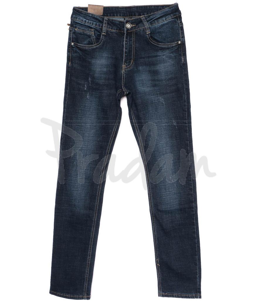 1991-2 Viman джинсы мужские с царапками синие осенние стрейчевые (29-36, 6 ед)