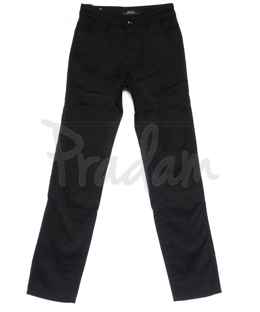 0309-1 New Feerars брюки мужские черные на байке зимние стрейч-котон (29-38, 8 ед.)