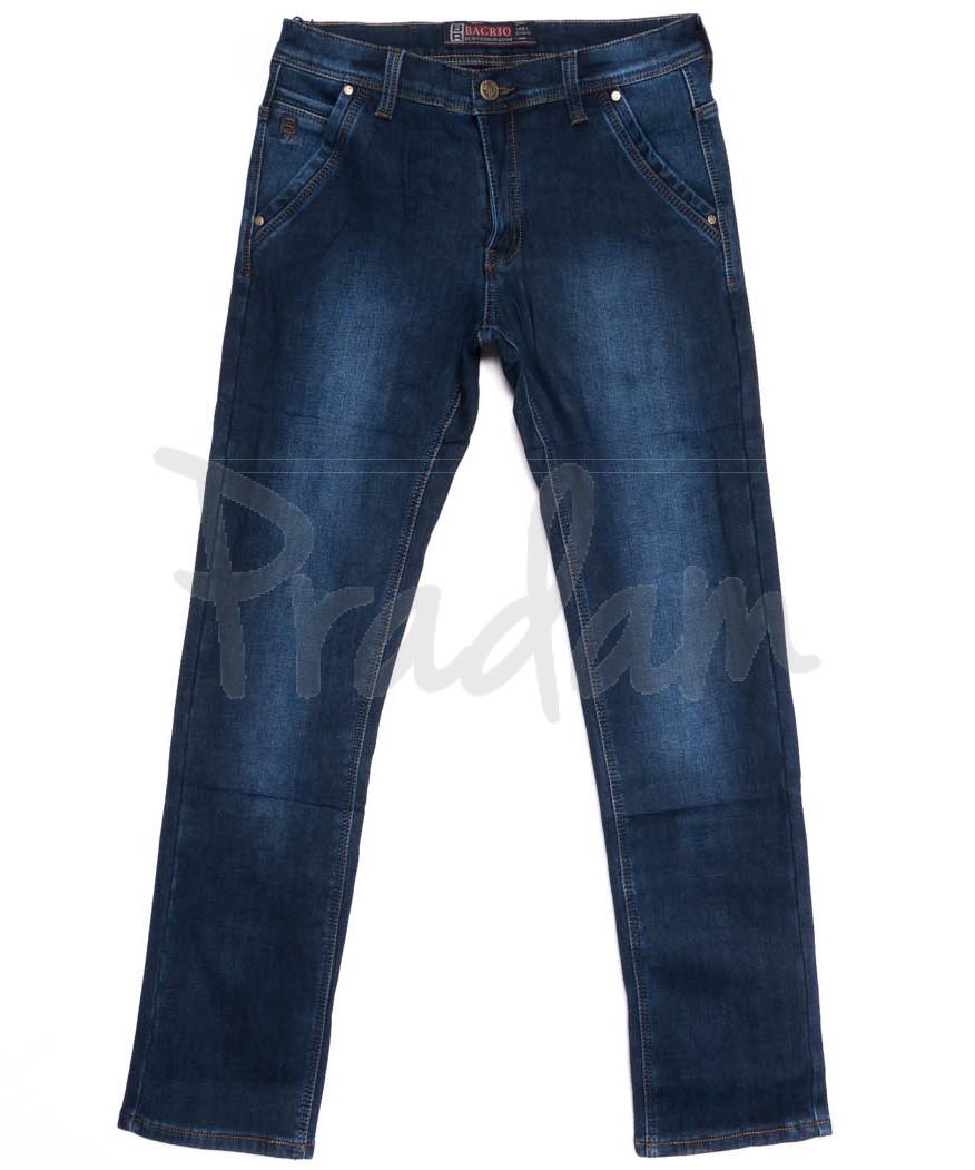 0877 Bagrbo джинсы мужские полубатальные на флисе зимние стрейчевые (32-38, 8 ед.)
