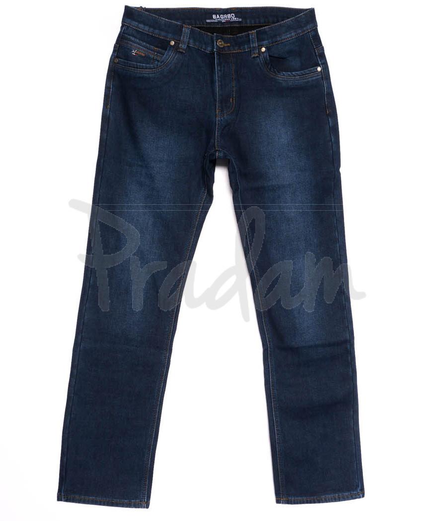 0042 Bagrbo джинсы мужские полубатальные на флисе зимние стрейчевые (32-38, 8 ед.)