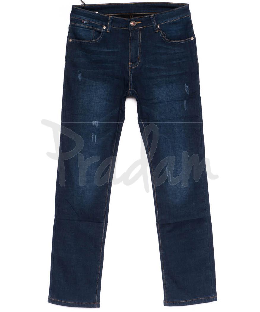 3549 New jeans джинсы мужские с царапками на флисе зимние стрейчевые (29-38, 8 ед.)