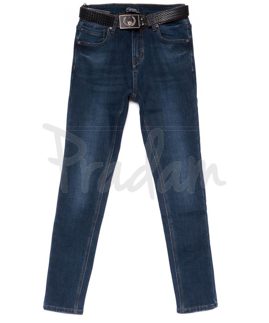 0582 DKNS джинсы женские полубатальные на флисе зимние стрейчевые (28-33, 6 ед.)