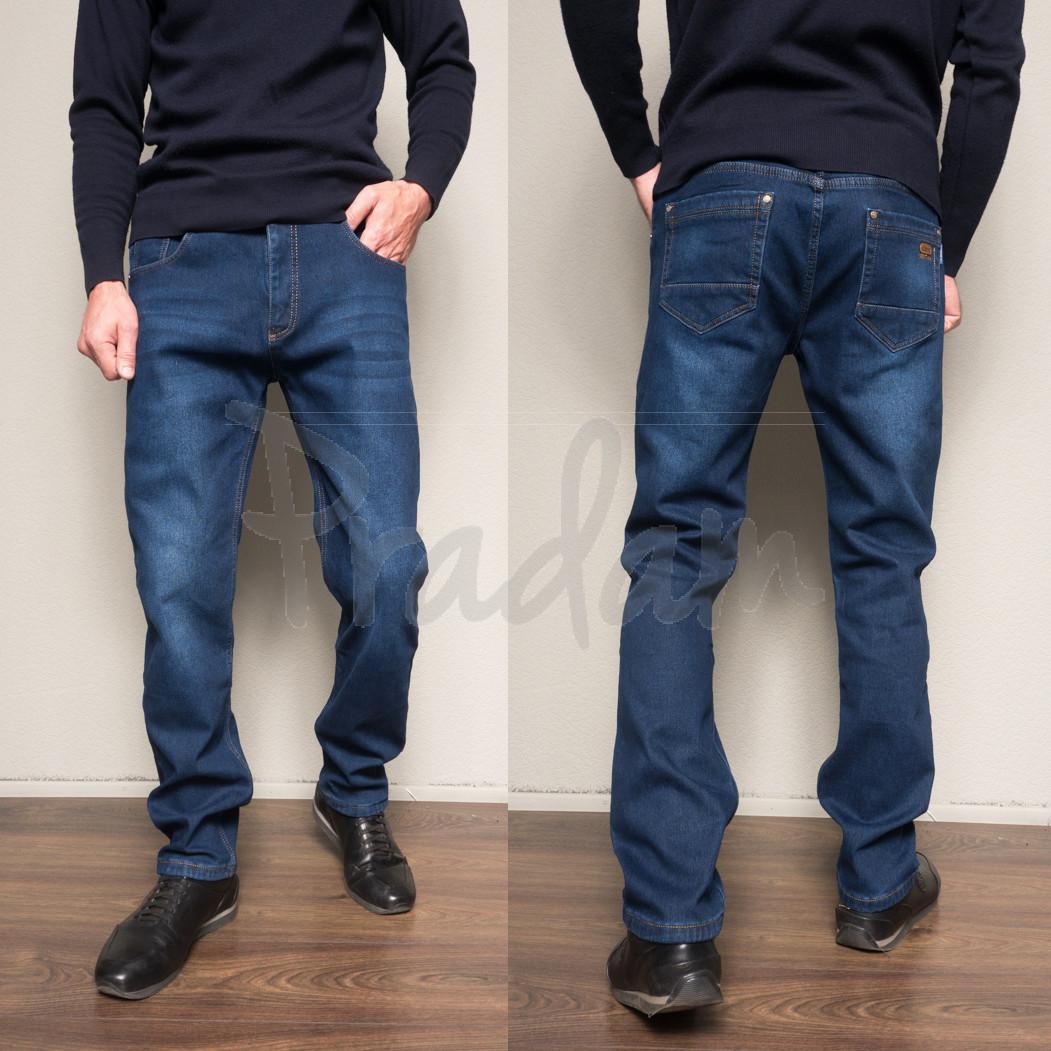 9003 Siheren джинсы мужские батальные на флисе зимние стрейчевые (34-38, 8 ед.)