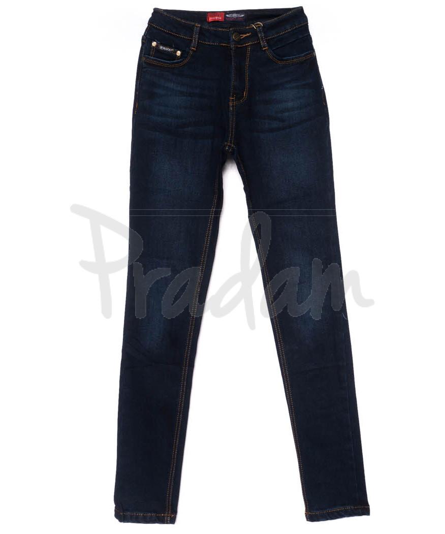 0724-4 Relucky джинсы женские синие на флисе зимние стрейчевые (25-30, 6 ед)