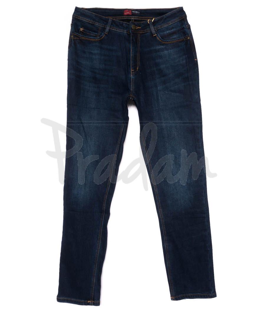 0555-4 Relucky джинсы женские батальные синие на флисе зимние стрейчевые (31-38, 6 ед)