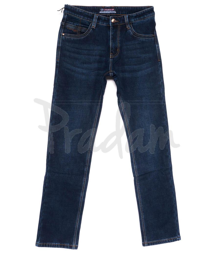 8201 Vouma-Up джинсы мужские полубатальные синие на флисе зимние стрейчевые (32-38, 8 ед.)