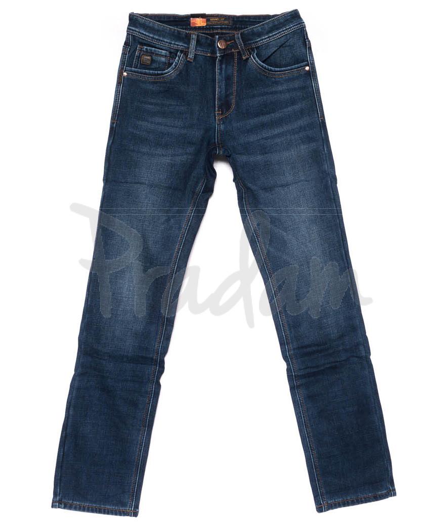 18239 U&P джинсы мужские синие на флисе зимние стрейчевые (29-38, 8 ед.)