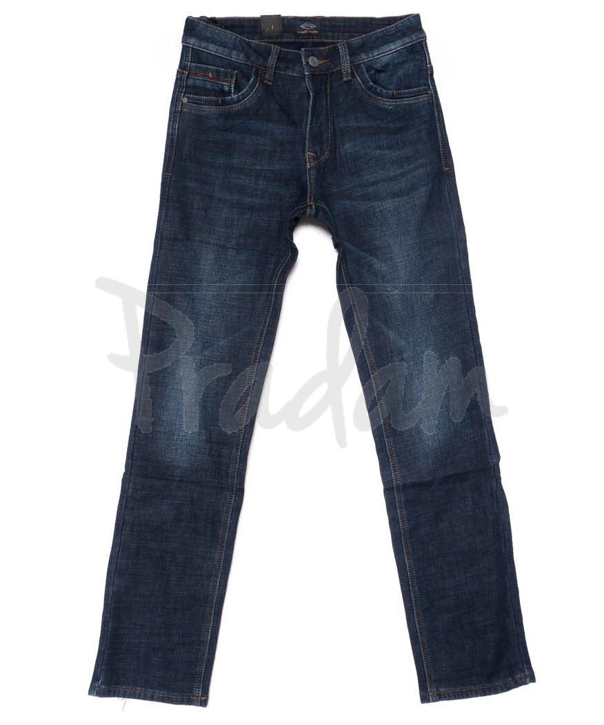 8223 FHOUS джинсы мужские синие на флисе зимние стрейчевые (30-38, 8 ед.)