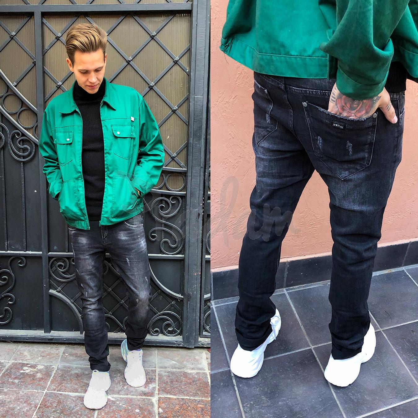 1980 Vingvgs джинсы мужские молодежные серые с царапками осенние стрейчевые (27-34, 8 ед.)