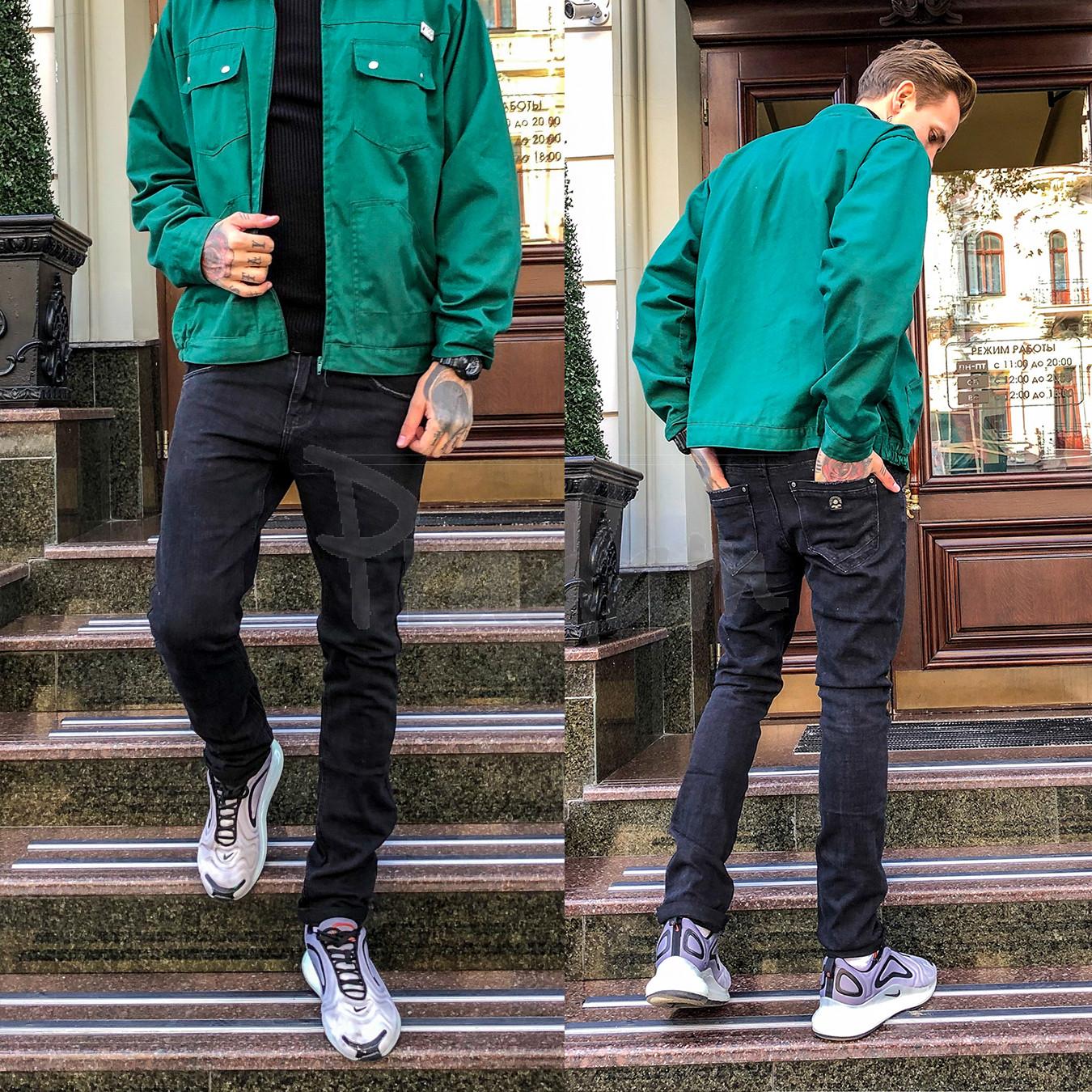 1974 Vingvgs джинсы мужские молодежные темно-серые осенние стрейчевые (28-36, 8 ед.)