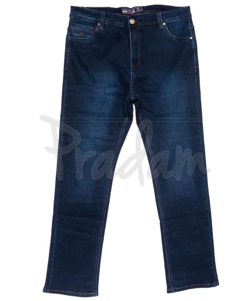 6618 Bagrbo джинсы мужские батальные синие осенние стрейчевые (34-44, 8 ед)