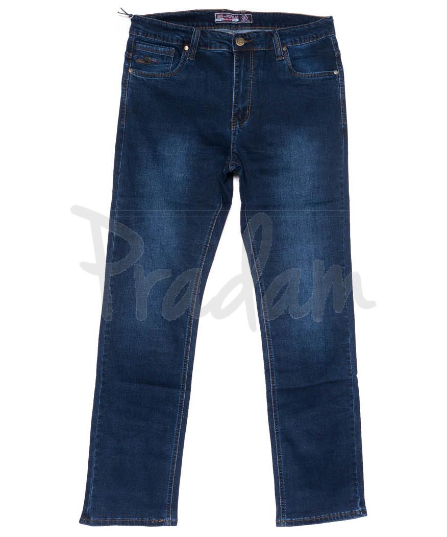 6619 Bagrbo джинсы мужские батальные синие осенние стрейчевые (34-44, 8 ед)