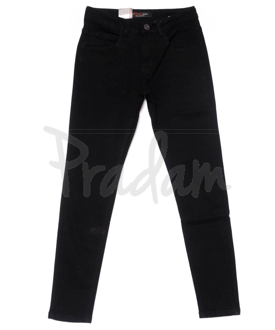 0117 M.Sara джинсы мужские молодежные черные на байке зимние стрейчевые (28-34, 6 ед.)