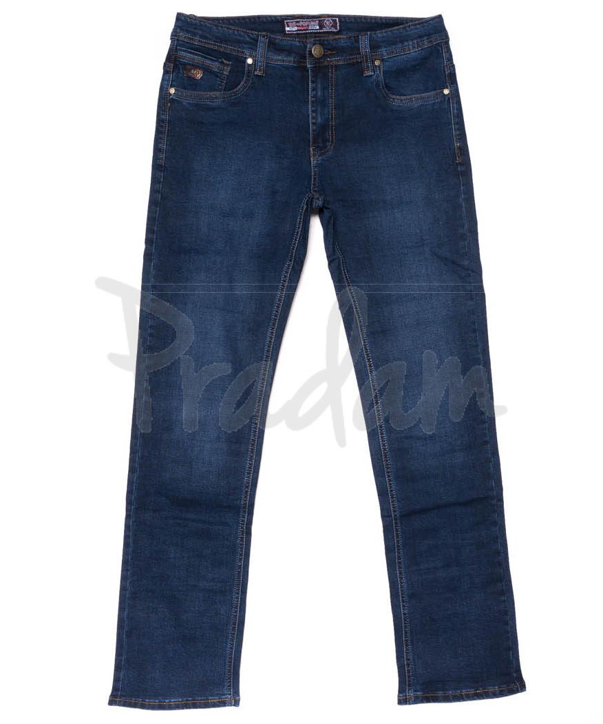 6609 Bagrbo джинсы мужские полубатальные синие осенние стрейчевые (32-38, 8 ед.)