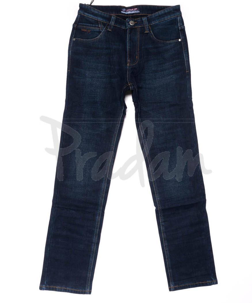 8208 Vouma-Up джинсы мужские синие на флисе зимние стрейчевые (29-38, 8 ед.)
