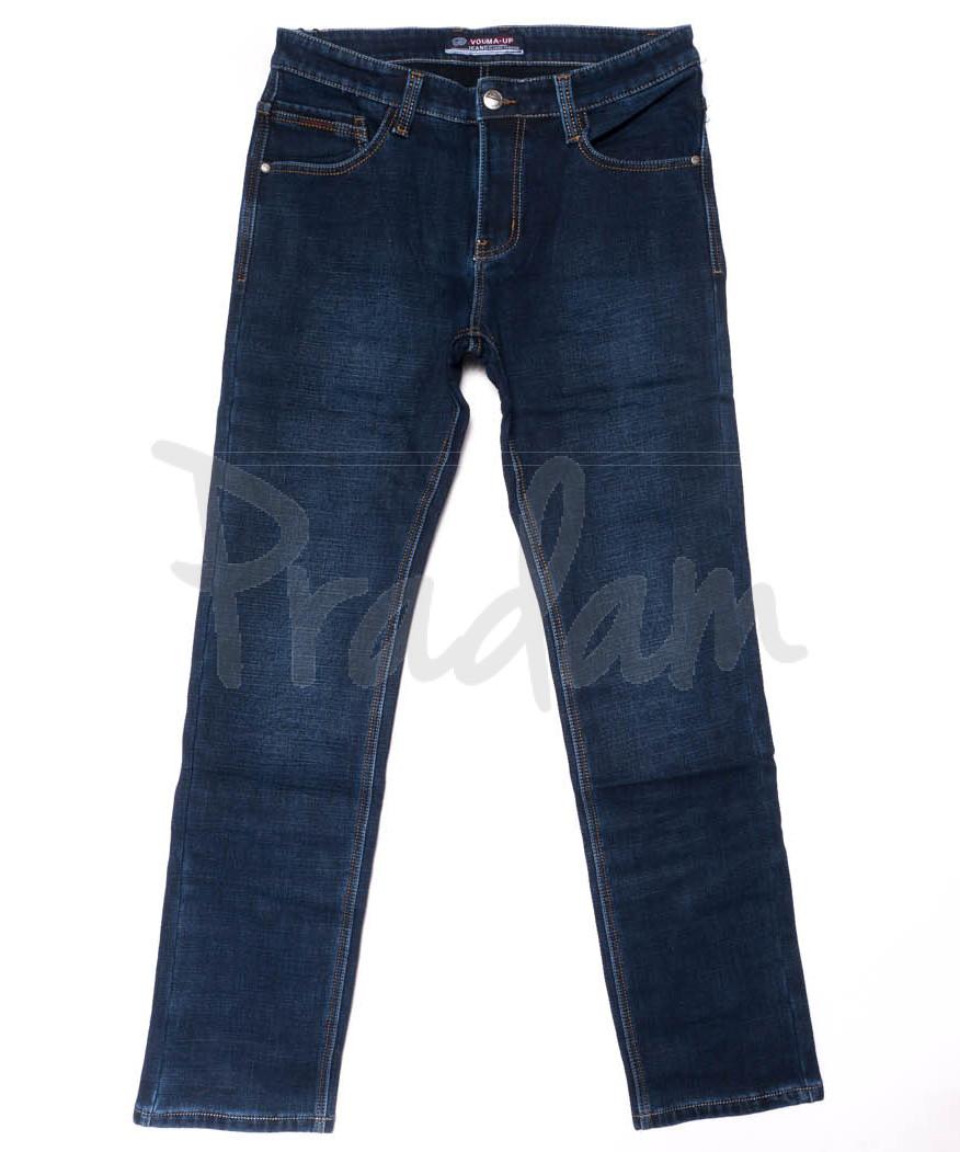 8207 Vouma-Up джинсы мужские молодежные синие на флисе зимние стрейчевые (28-36, 8 ед.)