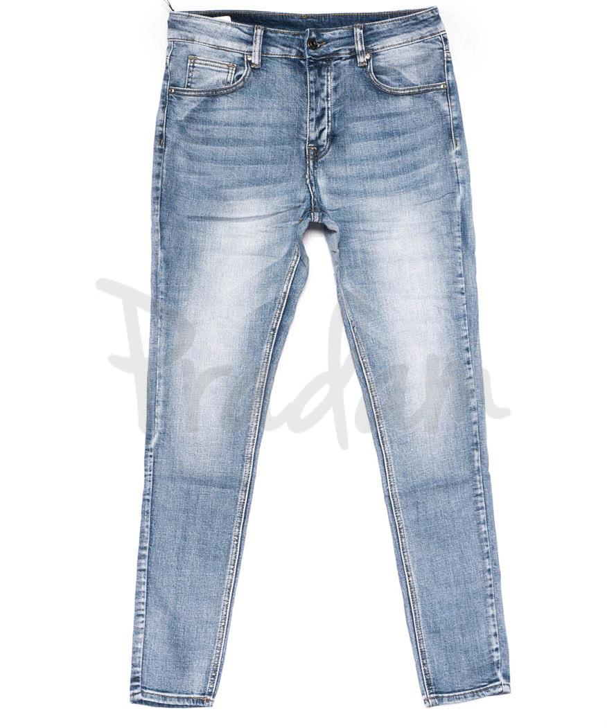 0010-01 New jeans джинсы мужские молодежные голубые весенние стрейчевые (28-36, 11 ед.)