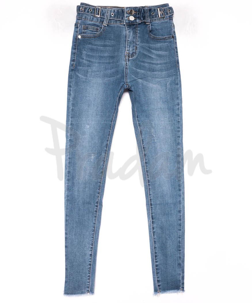 3613 New jeans американка синяя с царапками весенняя стрейчевая (25-30, 6 ед.)