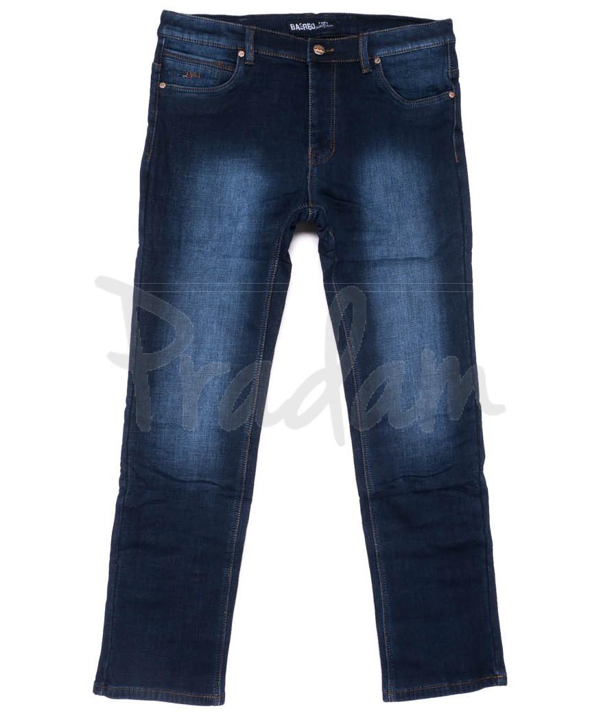 0180 Bagrbo джинсы мужские полубатальные синие на флисе зимние стрейчевые (32-38, 8 ед.)