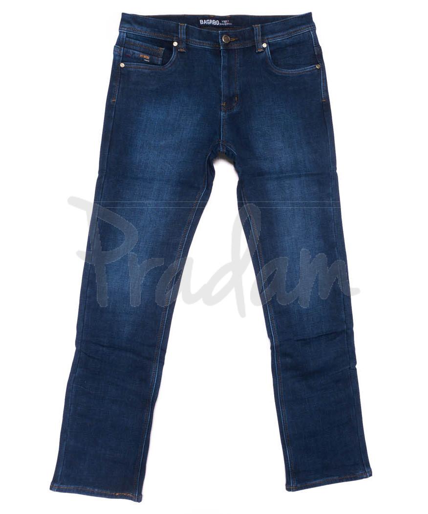 4255 Bagrbo джинсы мужские синие на флисе зимние стрейчевые (29-38, 8 ед.)