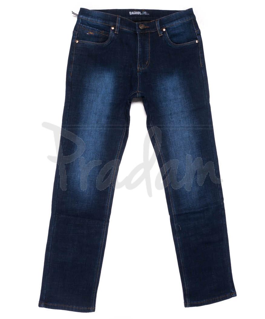 0182 Bagrbo джинсы мужские полубатальные синие на флисе зимние стрейчевые (32-42, 8 ед.)