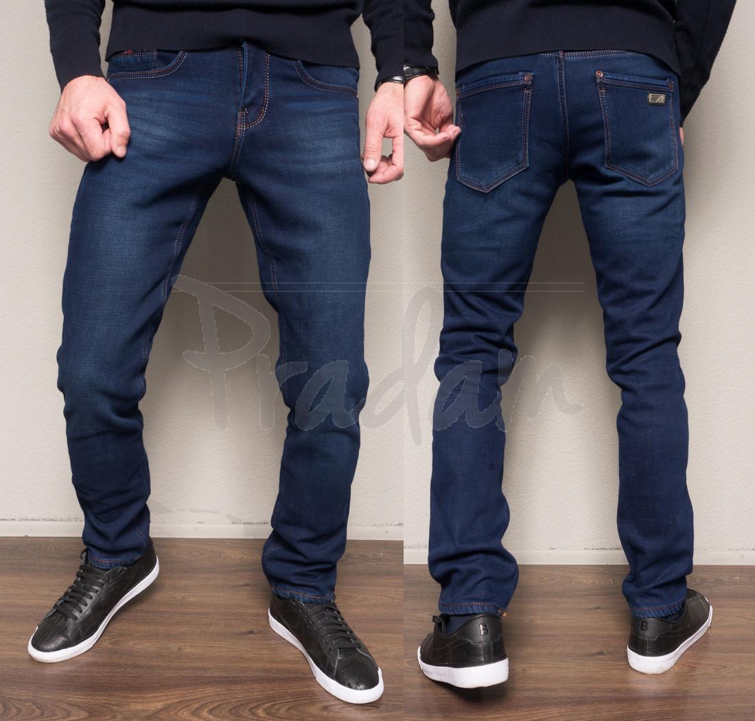 4011 Dsouaviet джинсы мужские полубатальные на флисе зимние стрейчевые (32-42, 7 ед.)