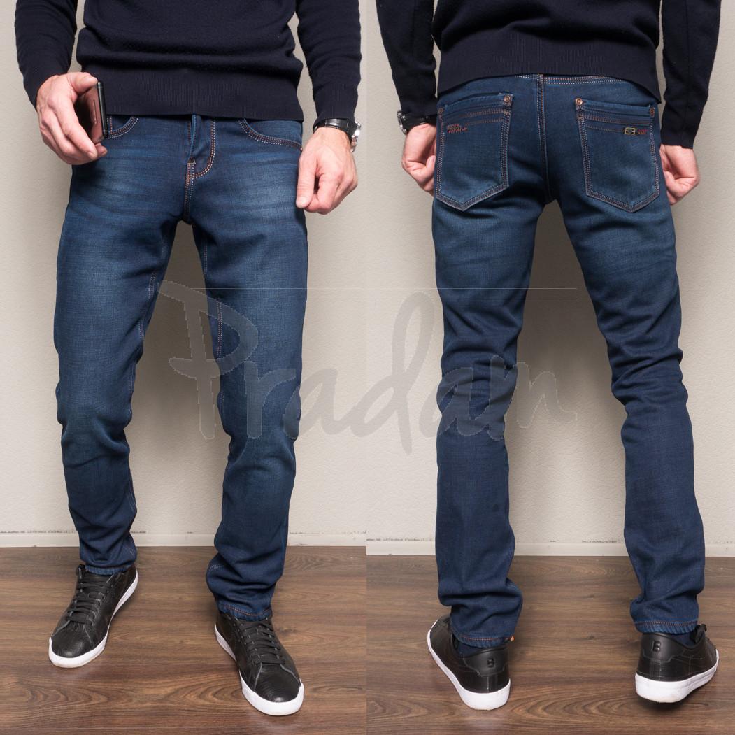 2082 Dsouaviet джинсы мужские синие на флисе зимние стрейчевые (29-2,30,31,32-2,33,36, 8 ед.)