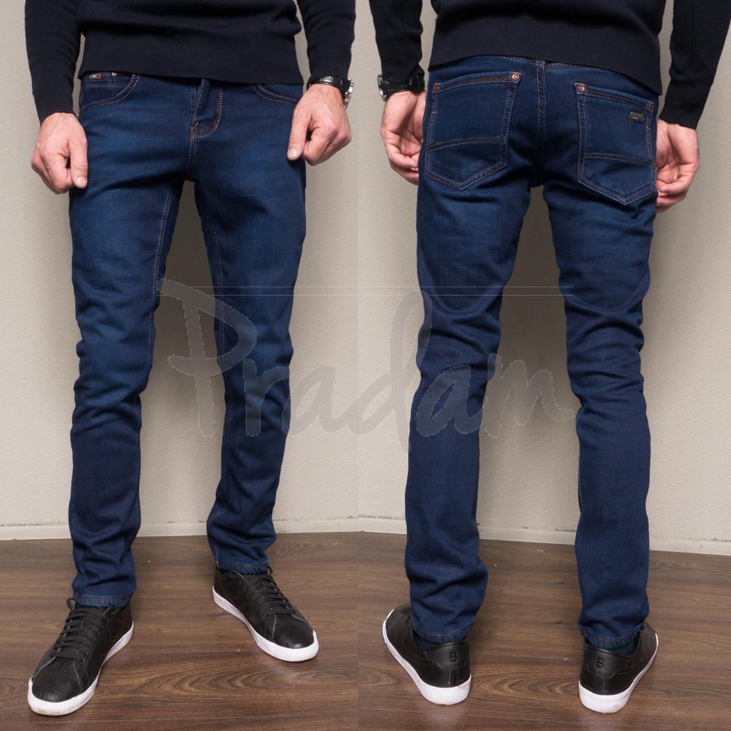 3036 Dsouaviet джинсы мужские полубатальные на флисе зимние стрейчевые (32-38, 8 ед.)