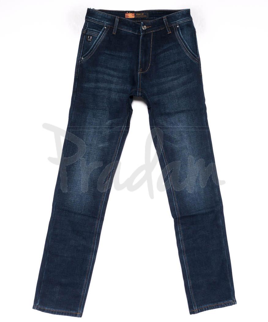 18246 Vouma-Up джинсы мужские синие на флисе зимние стрейчевые (29-36. 8 ед.)