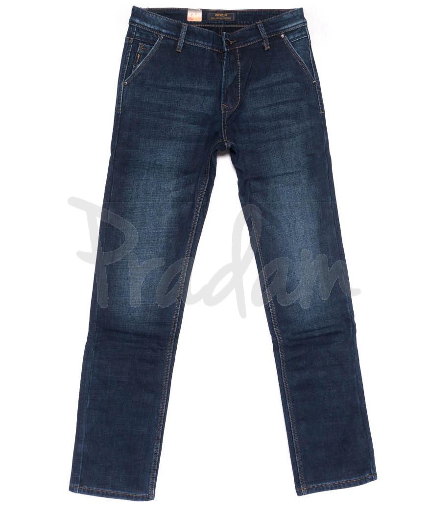 18244 Vouma-Up джинсы мужские синие на флисе зимние стрейчевые (29-38. 8 ед.)