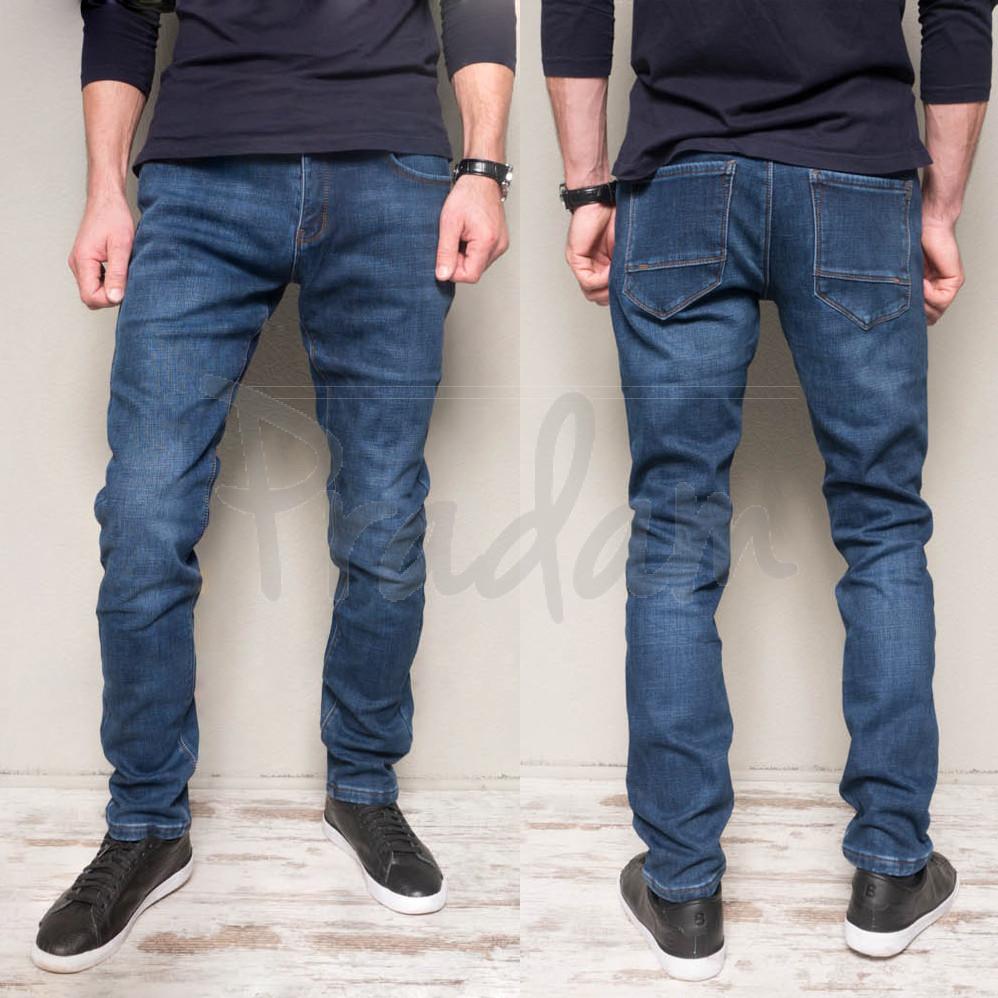 2018 DSQATARD джинсы мужские молодежные синие на флисе зимние стрейчевые (27-34, 8 ед.)