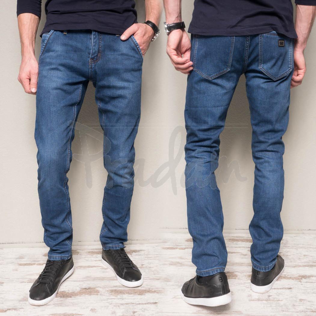 2028 DSQATARD джинсы мужские молодежные синие на флисе зимние стрейчевые (27-34, 8 ед.)