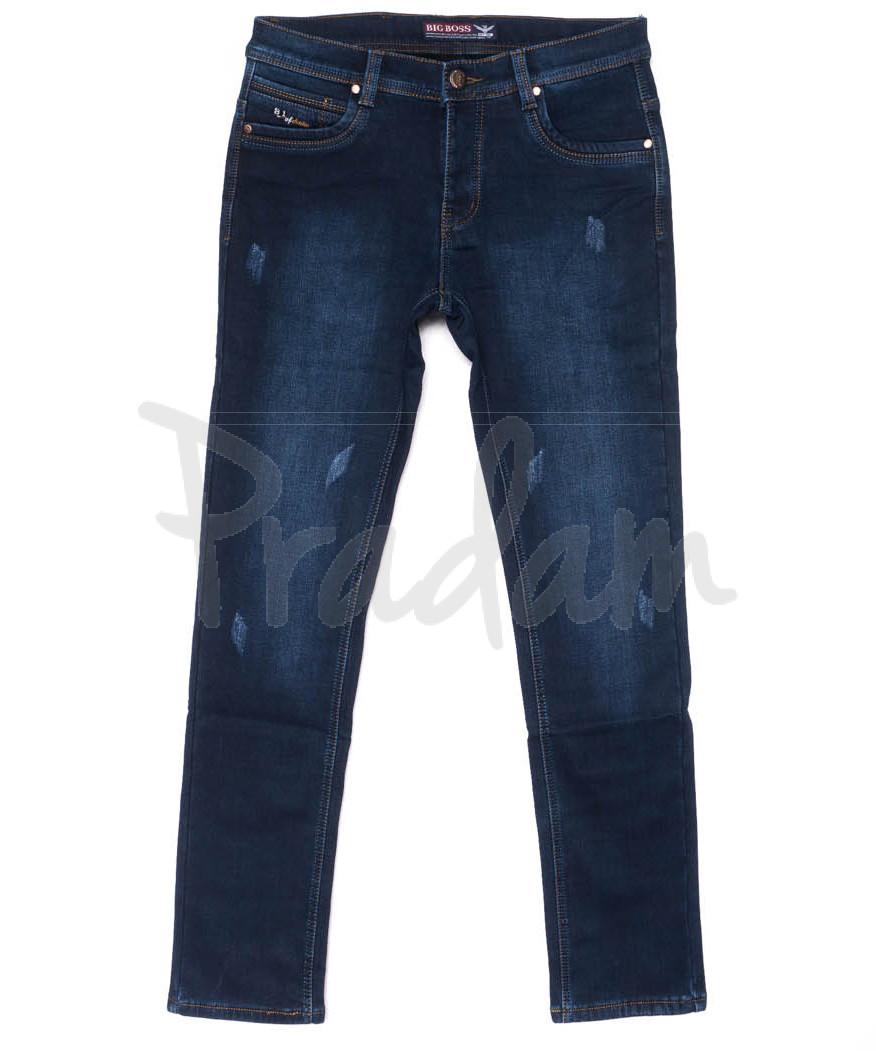 3712 Bigboss джинсы мужские синие молодежные весенние стрейчевые (28-36, 8 ед.)