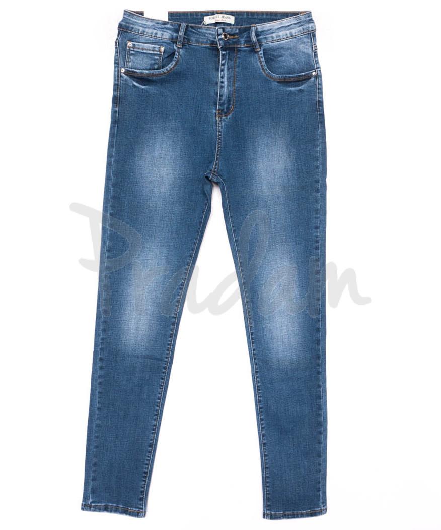 0321 Forest Jeans американка батальная синяя весенняя стрейчевая (31-38, 6 ед.)