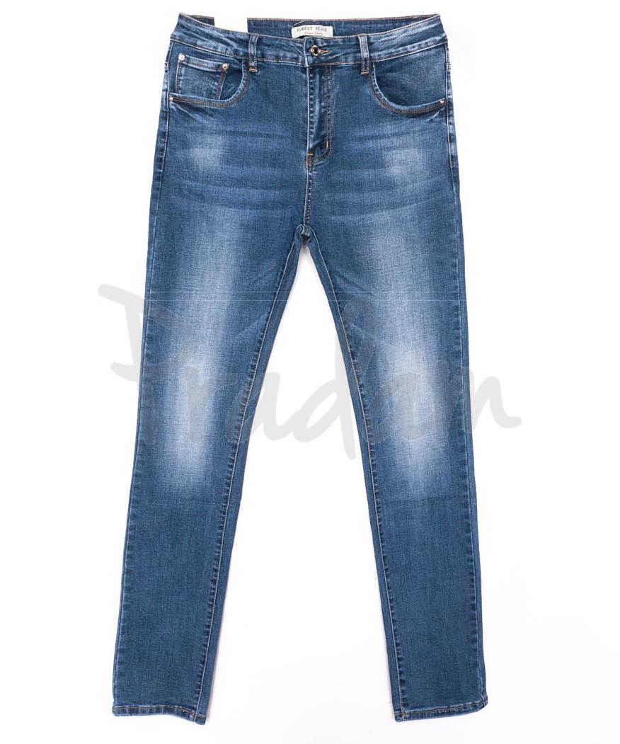 0329 Forest Jeans джинсы женские батальные синие весенние стрейчевые (31-38, 6 ед.)