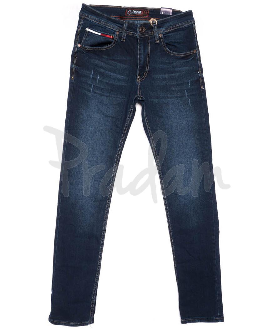 6309 Fashion Red джинсы мужские с царапками синие весенние стрейчевые (29-36, 8 ед.)