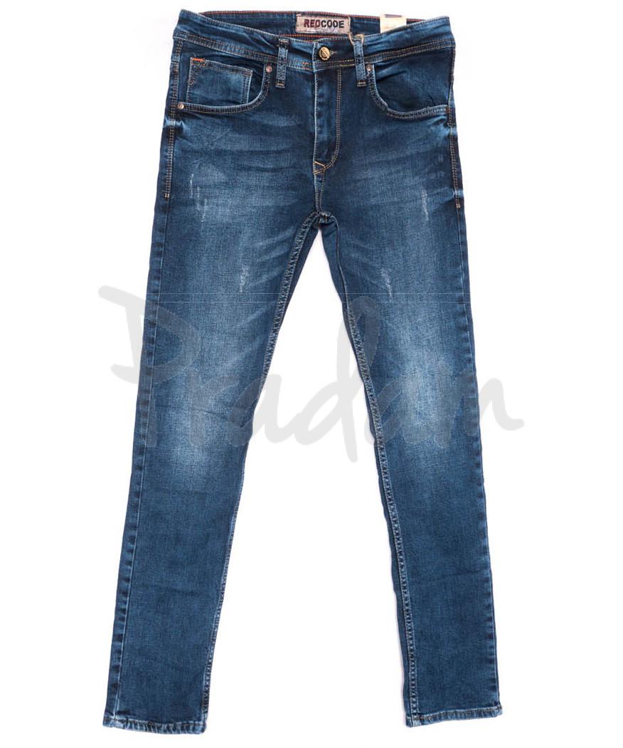 6207 Redcode джинсы мужские с царапками синие весенние стрейчевые (29-36, 8 ед.)