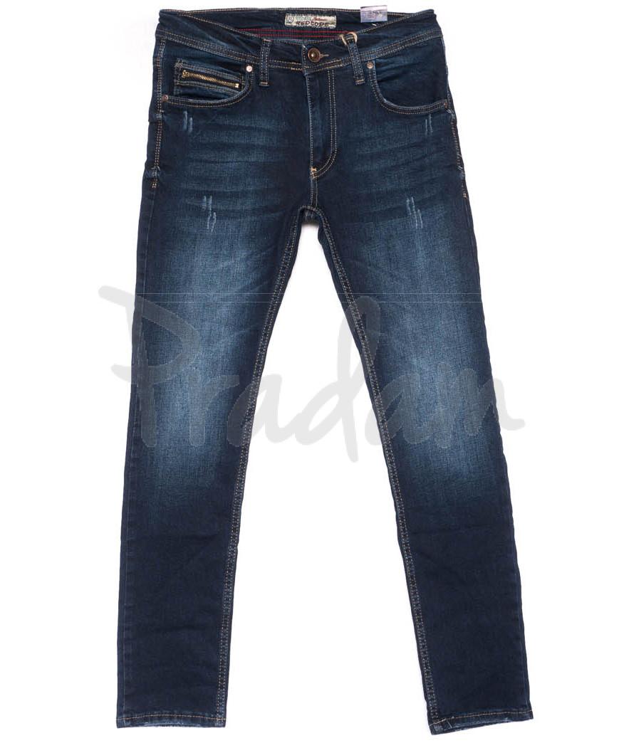 6235 Redcode джинсы мужские с царапками синие весенние стрейчевые (29-36, 8 ед.)