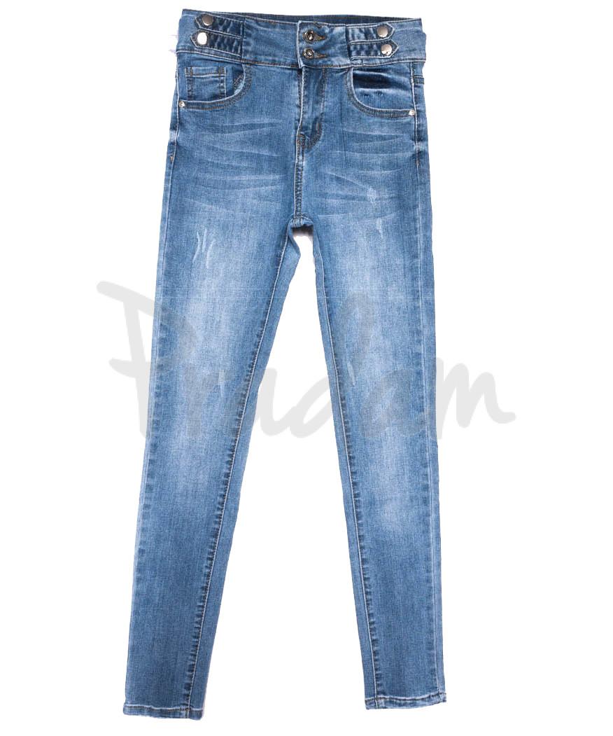 3655 New jeans джинсы женские зауженные синие весенние стрейчевые (25-30, 6 ед.)