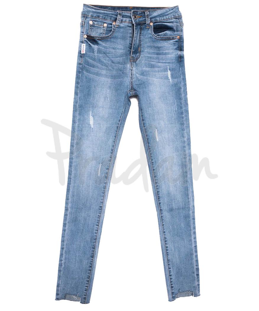 3640 New jeans джинсы женские зауженные синие весенние стрейчевые (25-30, 6 ед.)