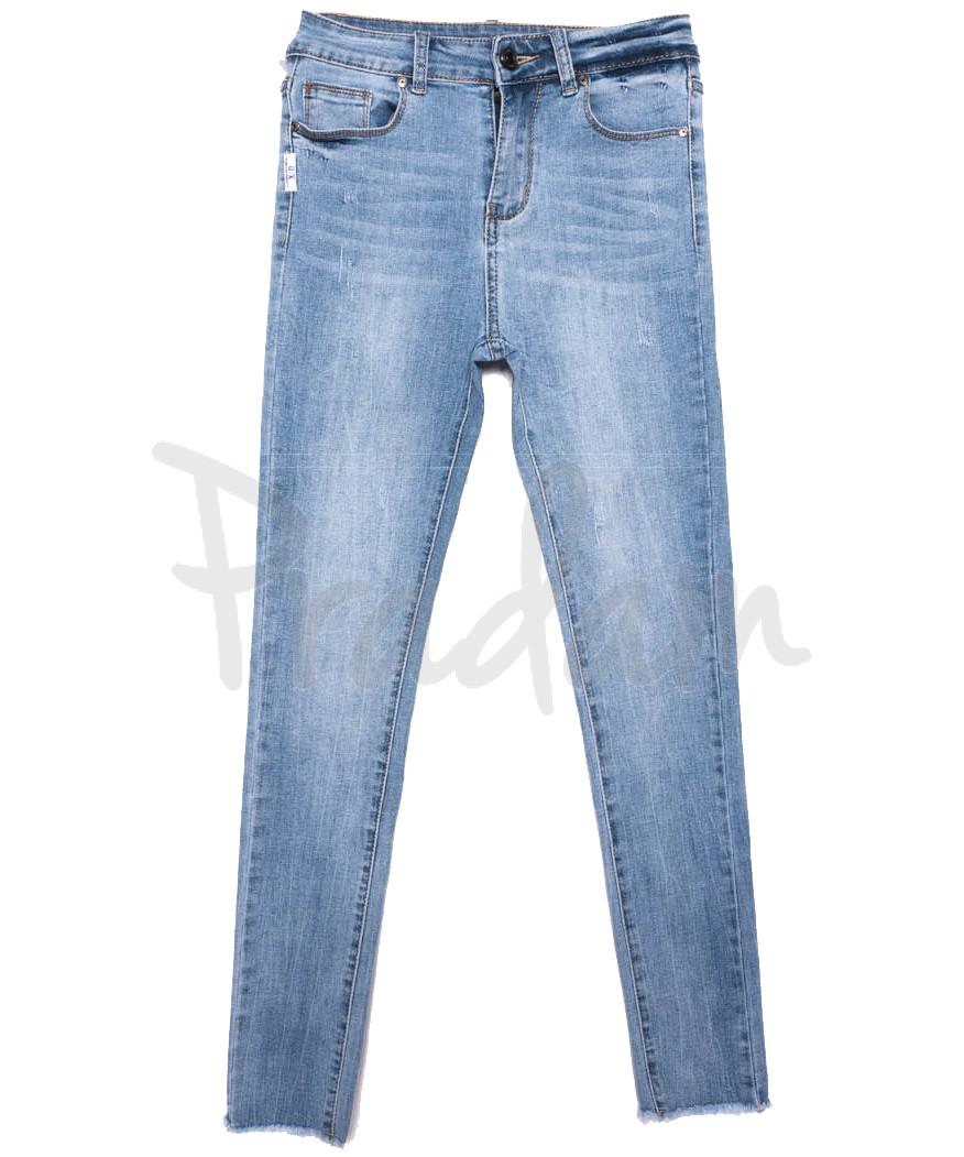 3667 New jeans джинсы женские зауженные синие весенние стрейчевые (25-30, 6 ед.)