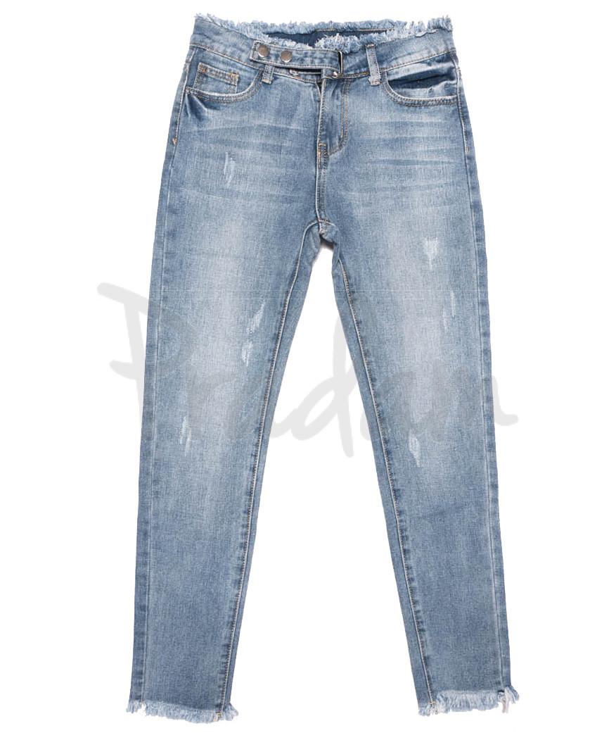 3632 New jeans мом синий весенний коттоновый (25-30, 6 ед.)