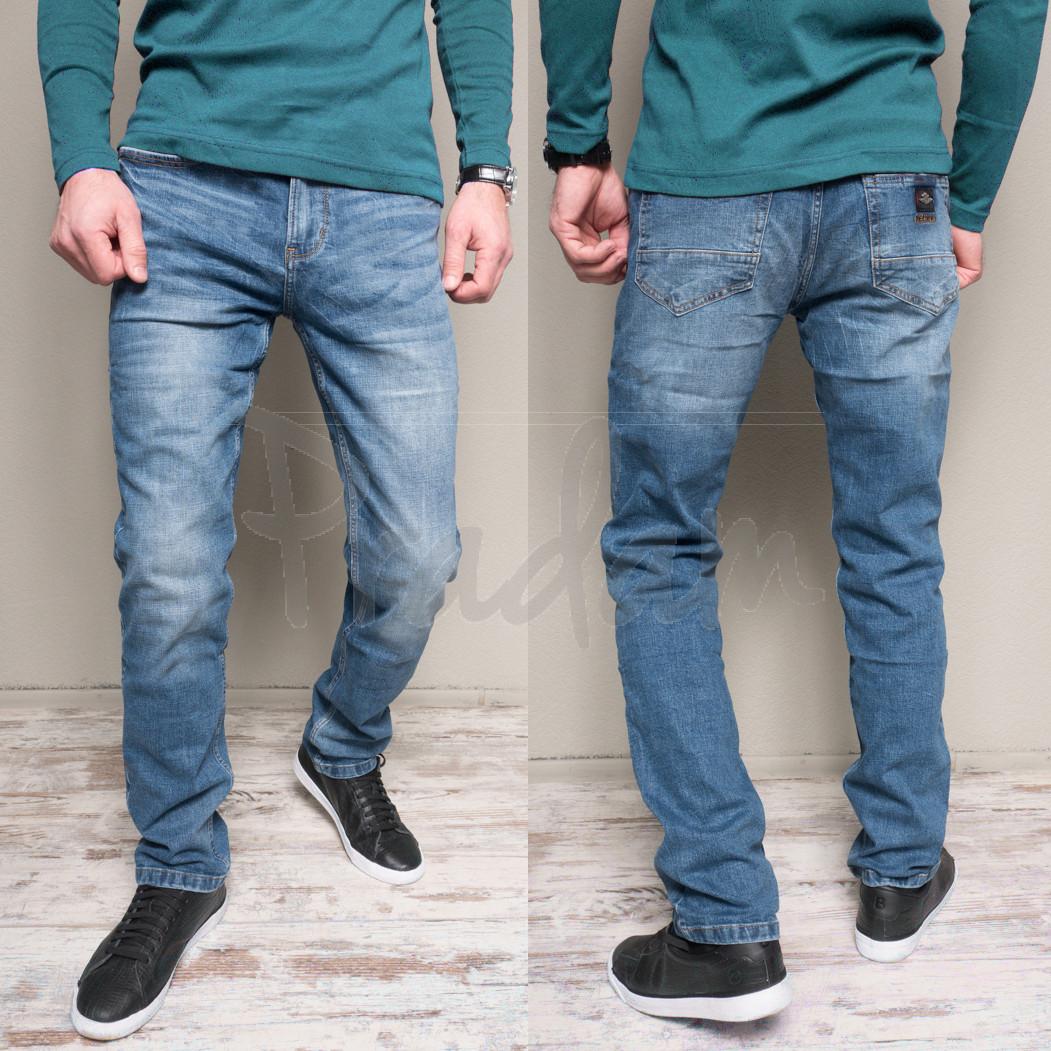 5501-3 Relucky джинсы мужские полубатальные весенние стрейчевые (32-42, 8 ед.)