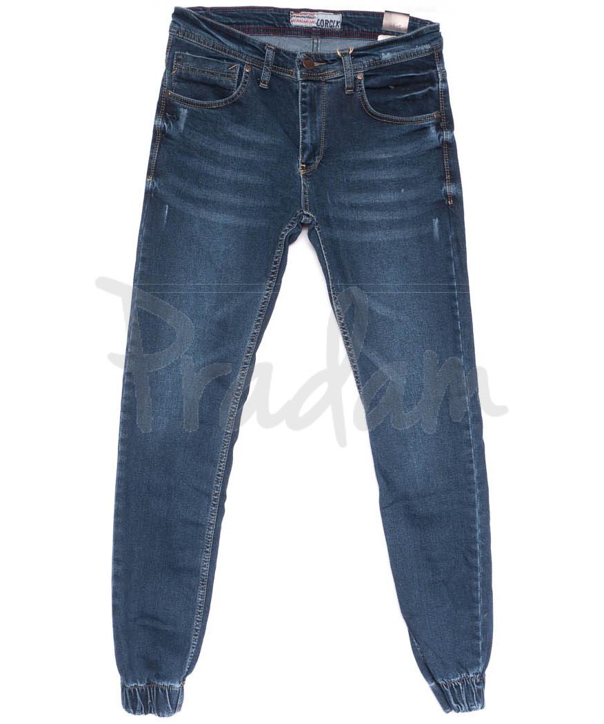 6213 Corcix джинсы мужские молодежные на резинке синие весенние стрейчевые (29-36, 8 ед.)