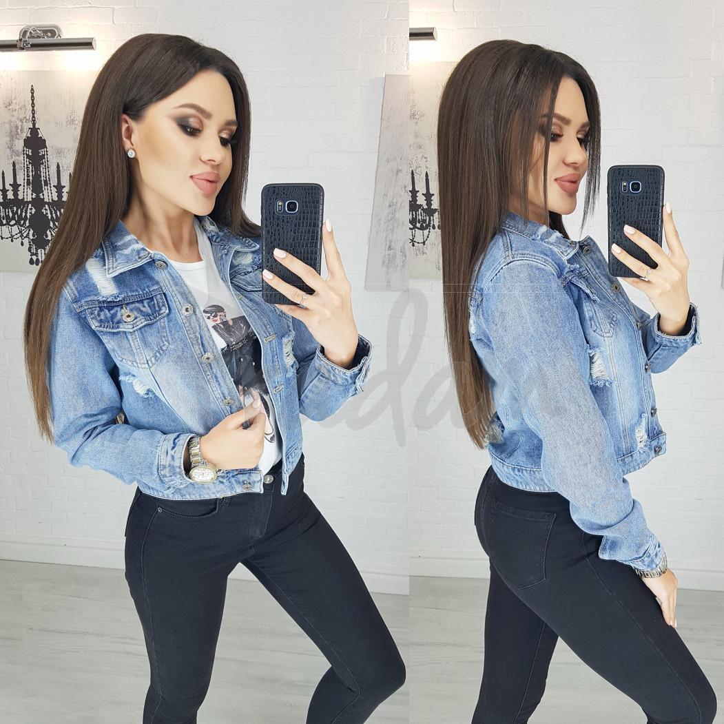 0801 New jeans куртка джинсовая женская синяя весенняя коттоновая (XS-XXL, 6 ед.)