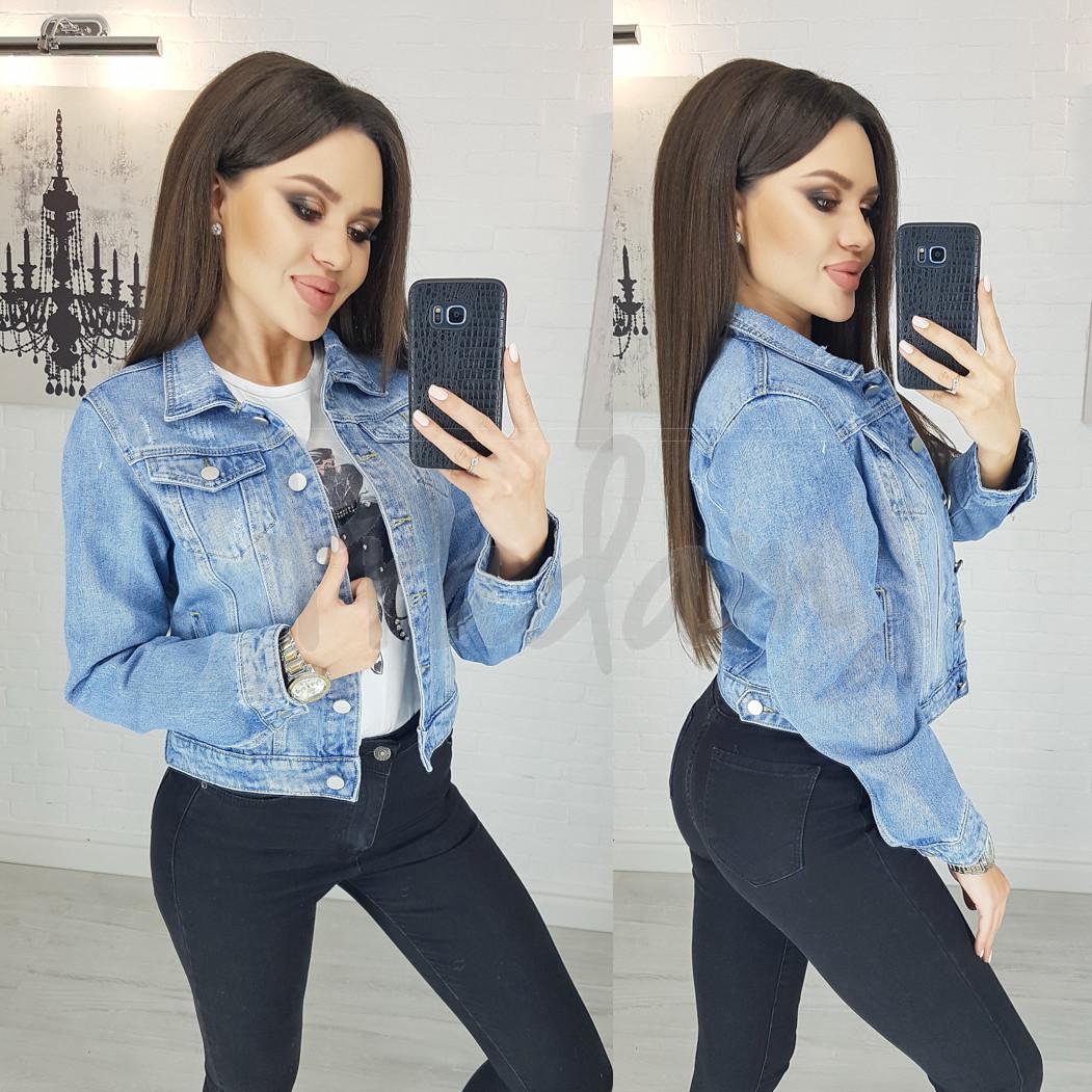 0804 New jeans куртка джинсовая женская синяя весенняя коттоновая (XS-XXL, 6 ед.)