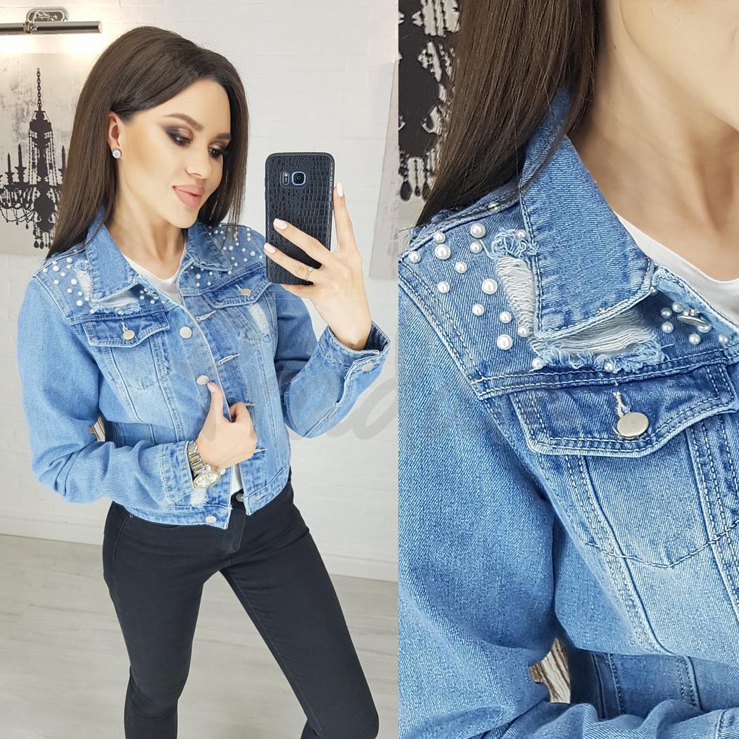 0803 New jeans куртка джинсовая женская синяя весенняя коттоновая (XS-XXL, 6 ед.)